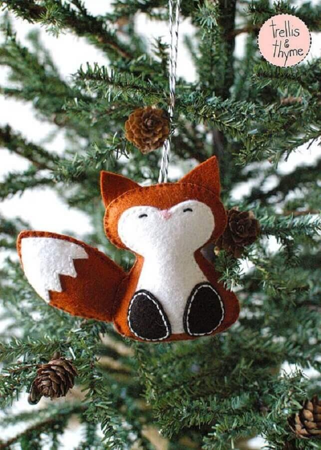 raposinha de enfeites para árvore de natal em feltro Foto Trellis & Thyme