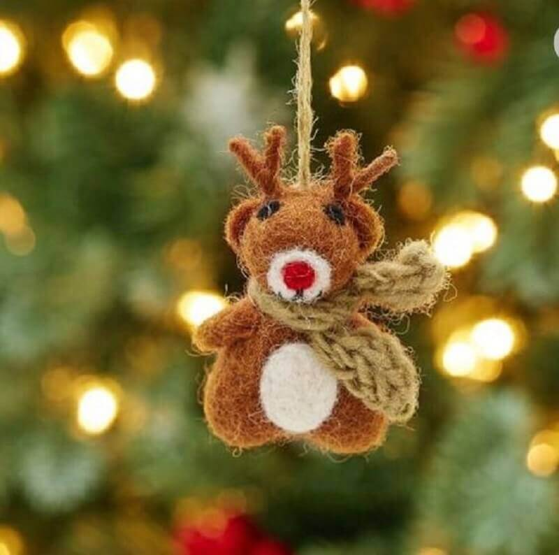 reninha como enfeites de árvore de natal Foto Etsy
