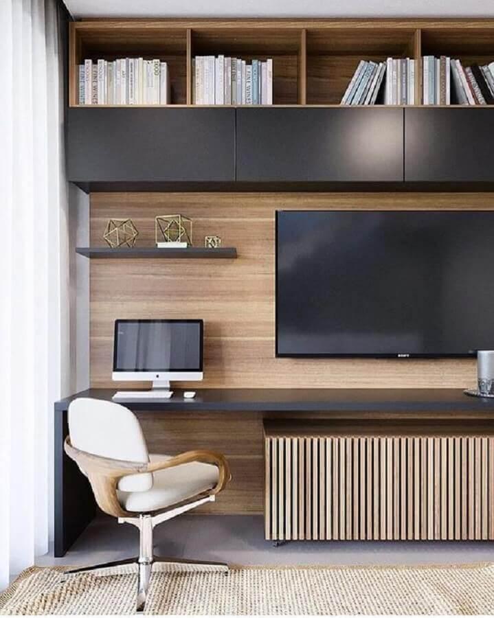 sala decorada com cadeira decorativa giratória com braço Foto Pinterest