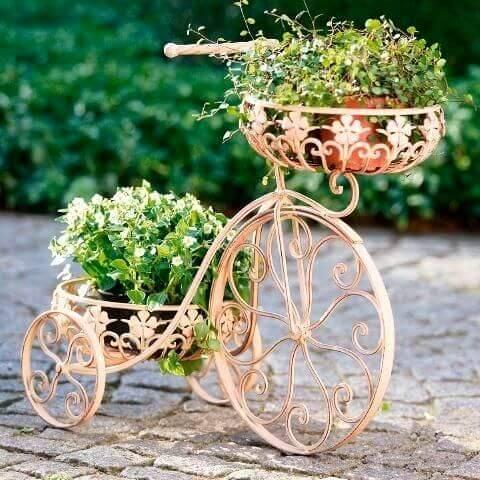 Suporte de plantas rose gold