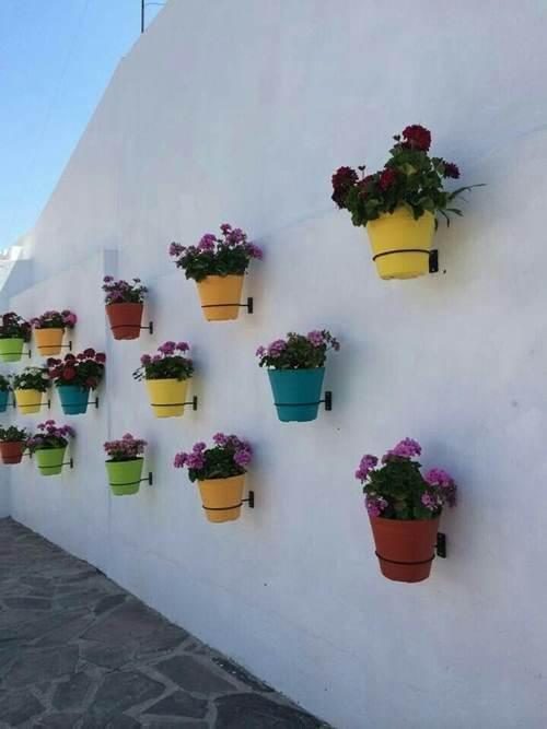 Suporte para plantas de parede simples em ferro