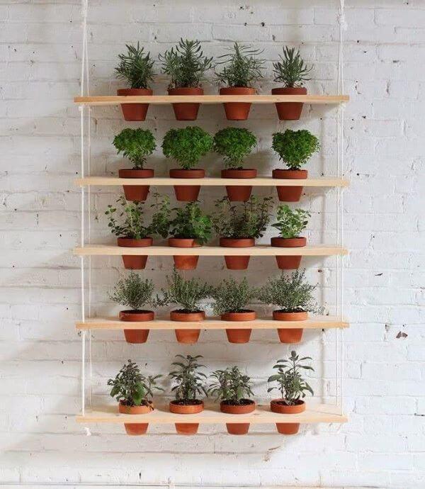 Suporte para plantas suspenso