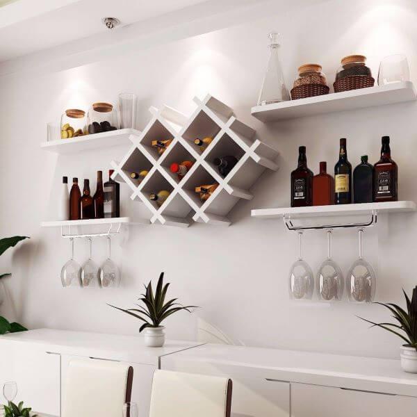suporte para taça de vinho