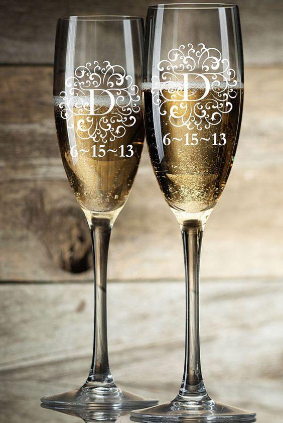 Taça de vinho personalizada para espumante