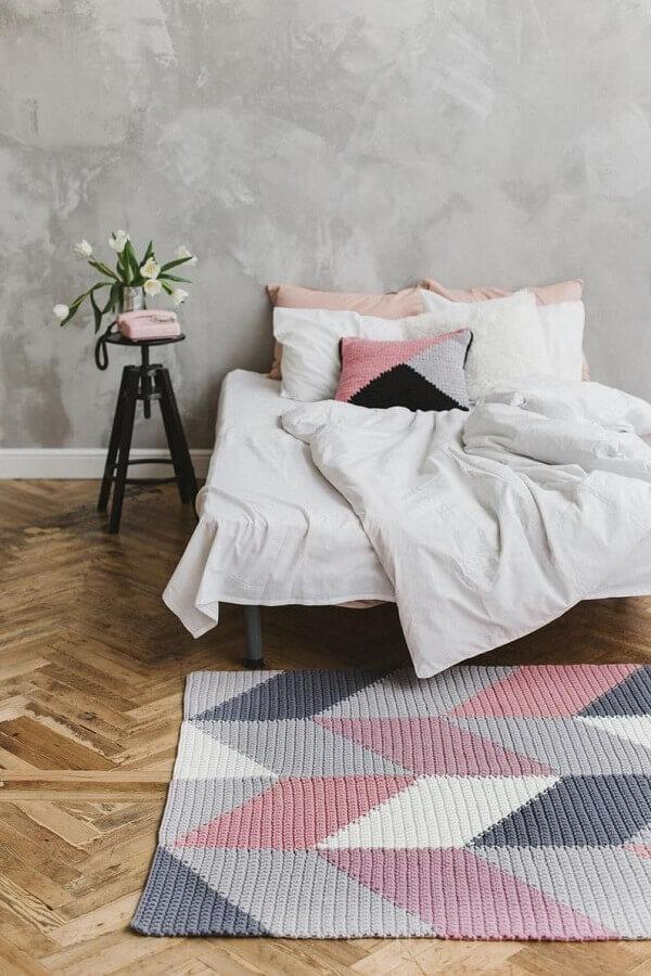 tapete colorido para quarto decorado com estilo minimalista Foto Revista Artesanato