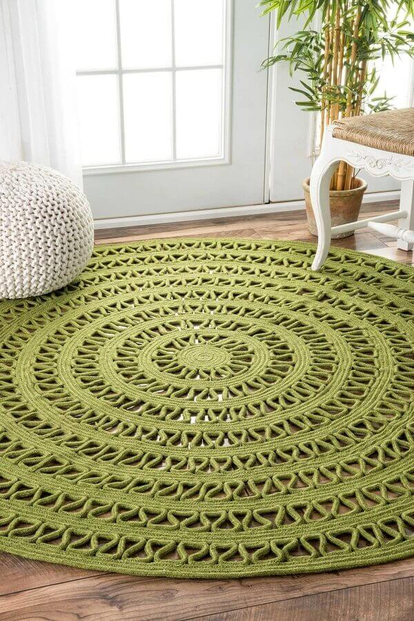 tapete verde musgo redondo Foto Pinterest