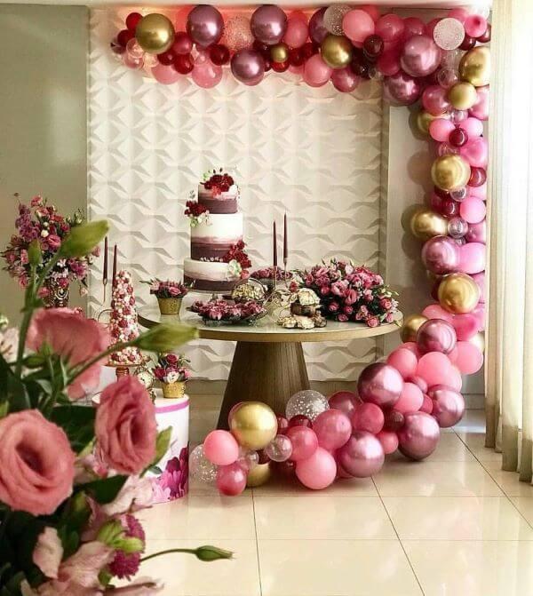 decoração linda para sua festa de 18 anos