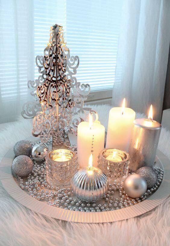 velas de natal - centro de mesa com velas