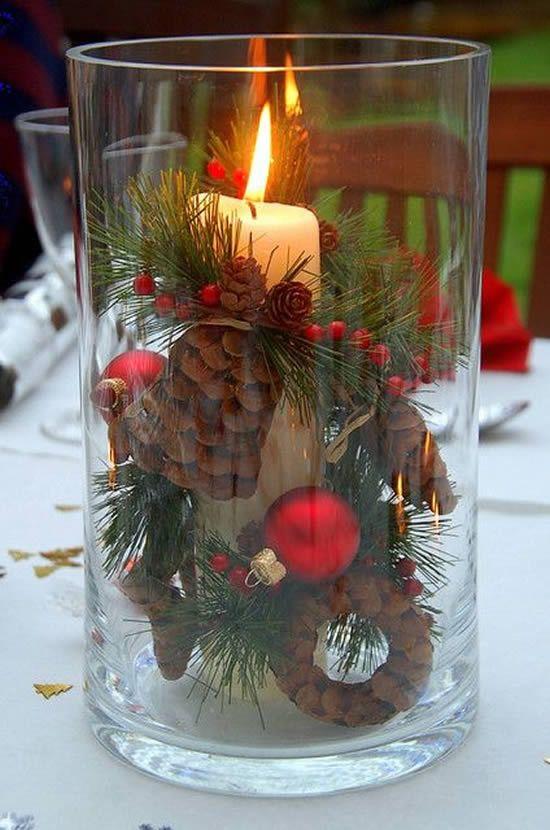 velas de natal - copo com vela de natal