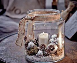 velas de natal - copo com vela de natal simples - Pinterest