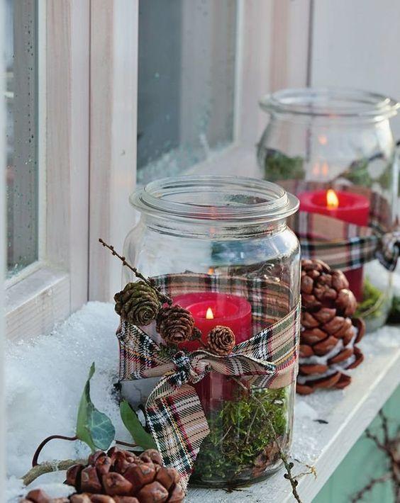 velas de natal - copos com velas vermelhas