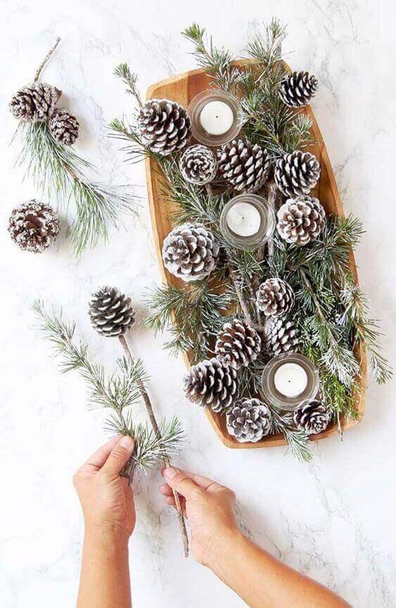 velas de natal - mesa com velas