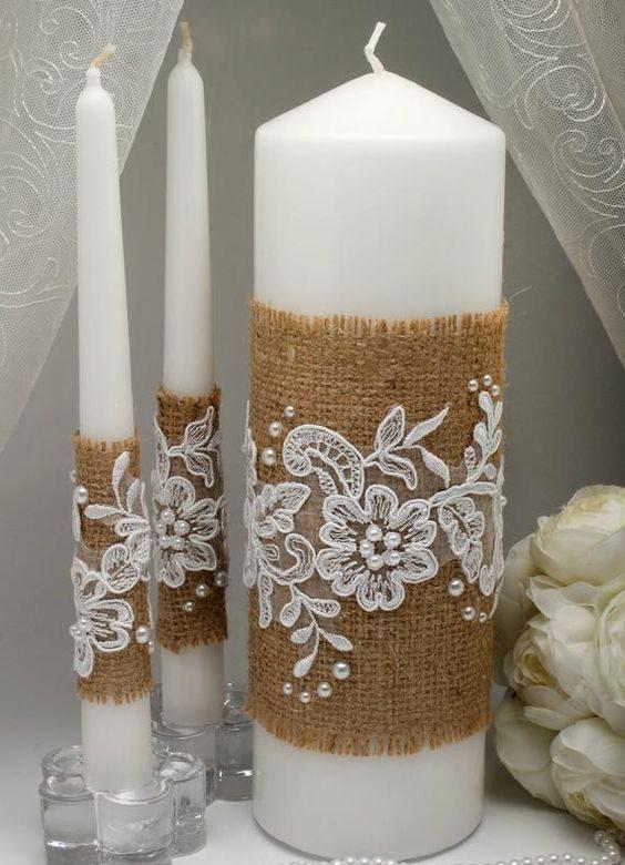 velas de natal - vela com tela decorada