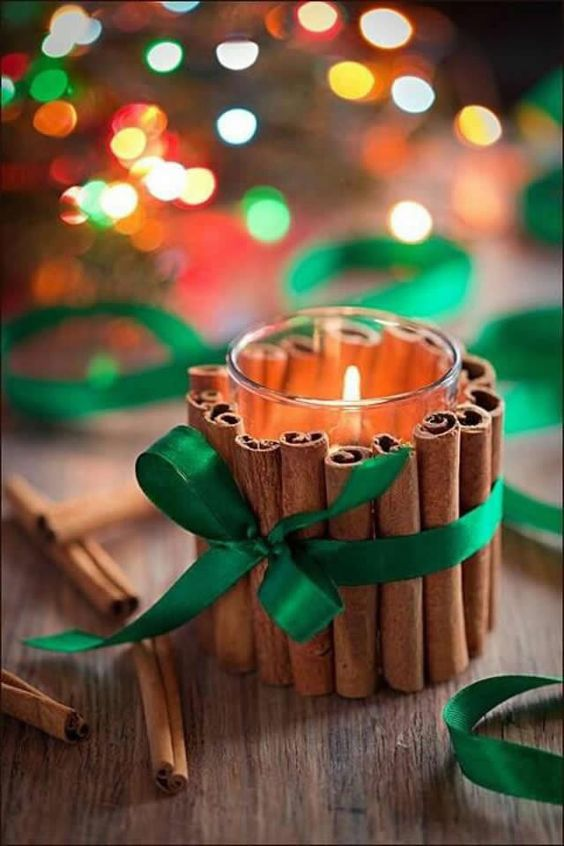 velas de natal - vela de natal com canelas