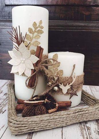 velas de natal - vela em cesta de vime