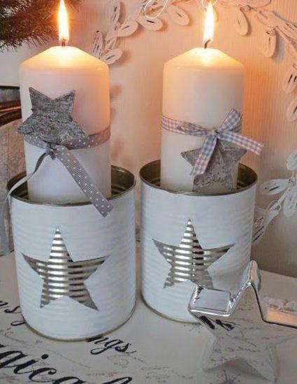 velas de natal - vela em latas