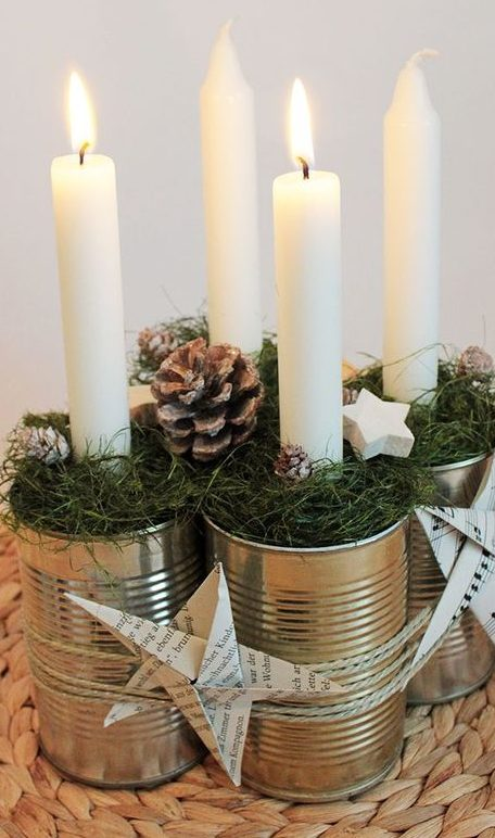 velas de natal - velas de natal em lata