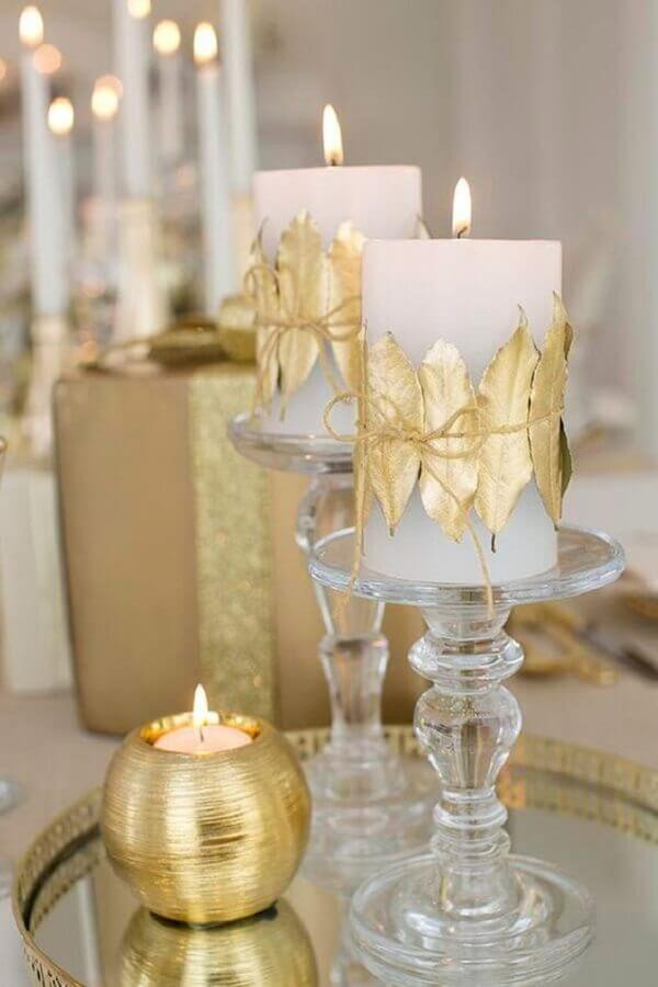 velas personalizadas para decoração de réveillon Foto Jihan Shanum