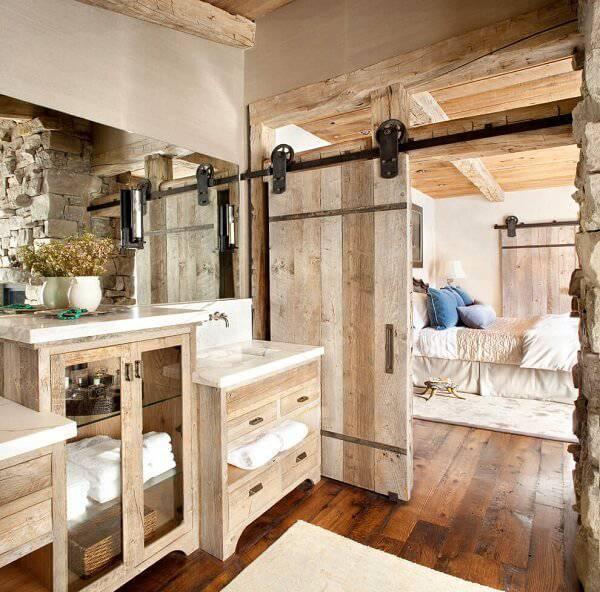 Armário de madeira para banheiro
