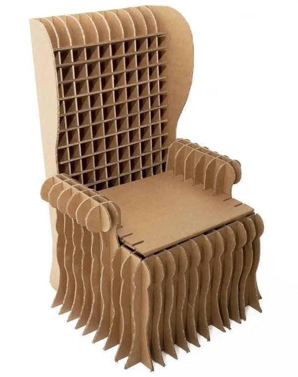 Crie móveis de papelão para sua casa como esta poltrona