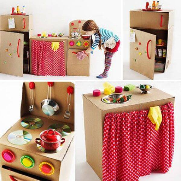 Brinquedos feitos com papelão