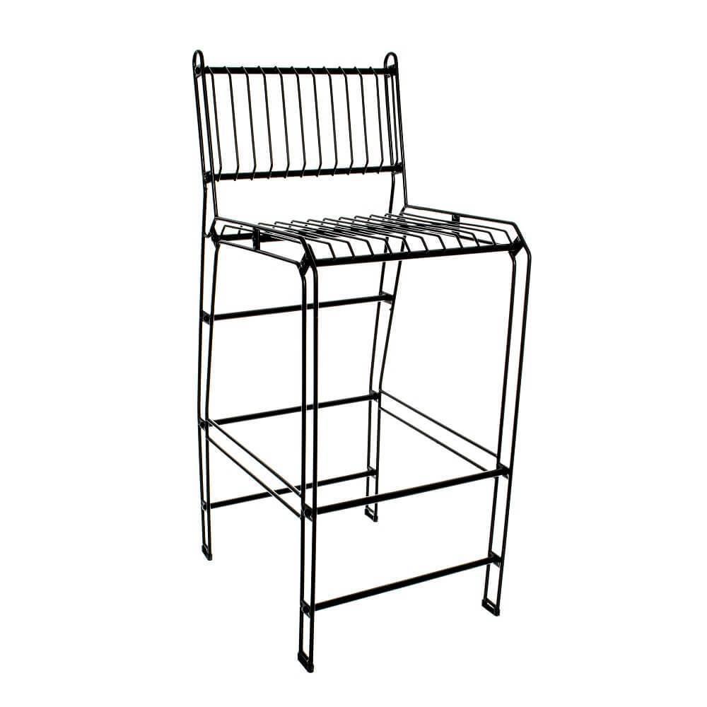 Modelo de cadeira decorativa aramada bistrô