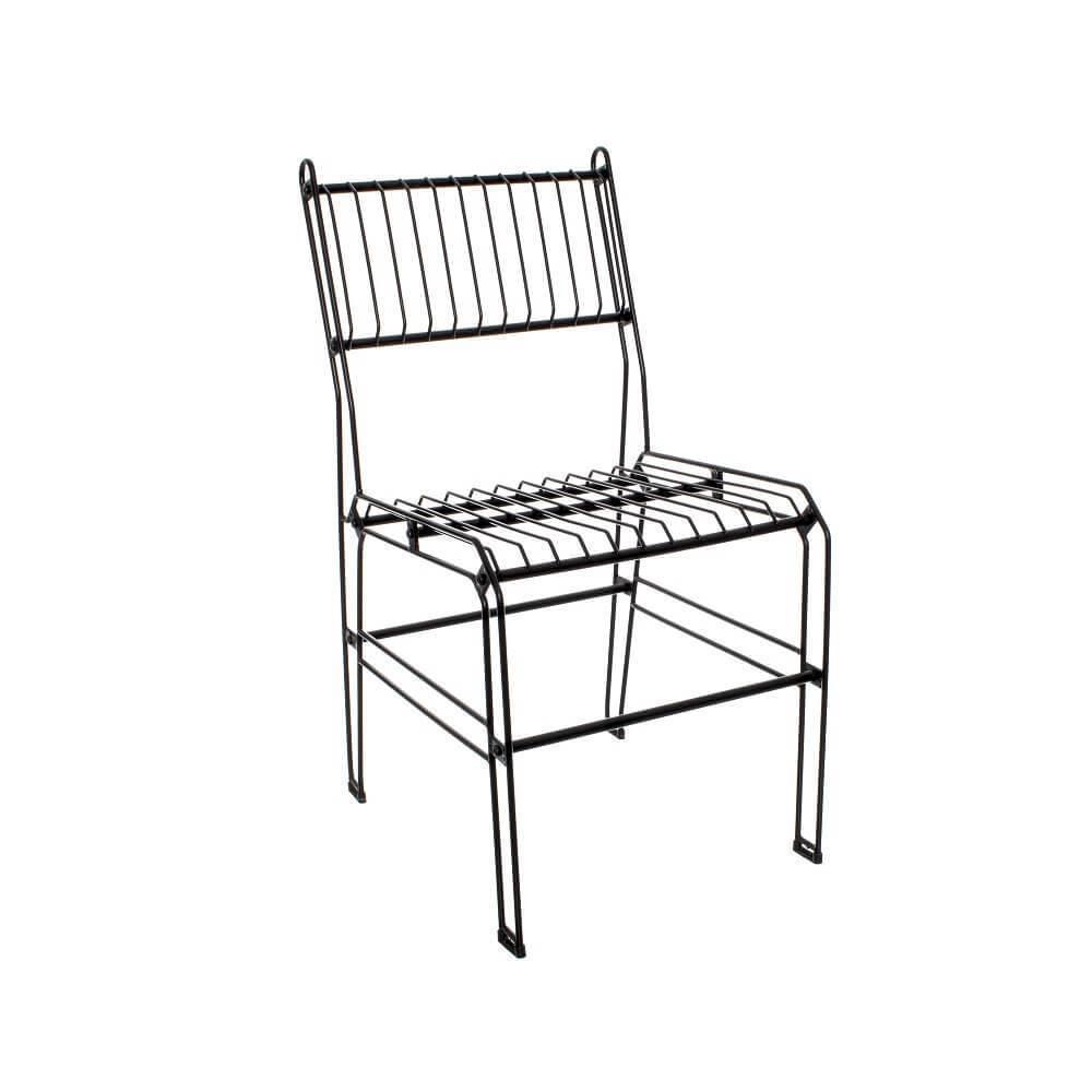 Modelo de cadeira decorativa aramada