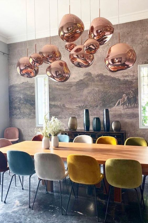 Cadeira eames retrô colorida para sala de jantar