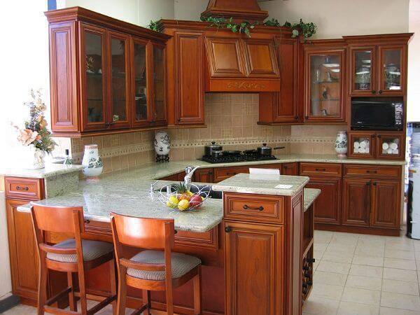 Modelo de armário de madeira para cozinha planejado