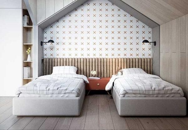 Instale o piso laminado flutuante na quarto das crianças para aquecer os pequenos