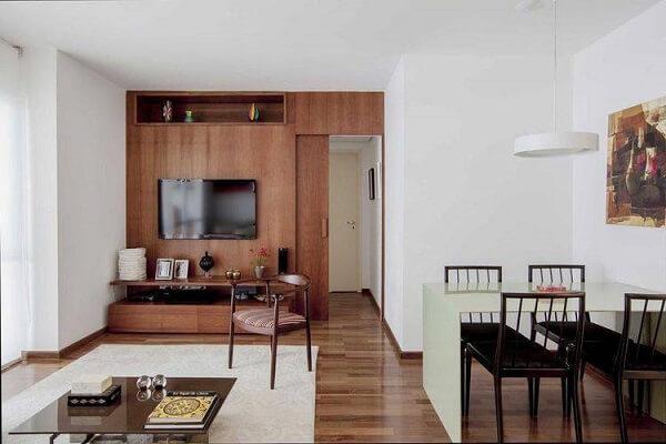 O piso flutuante pode ser utilizado em ambientes integrados