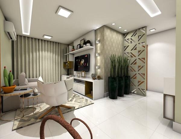 Poltronas para sala de tv com design moderno