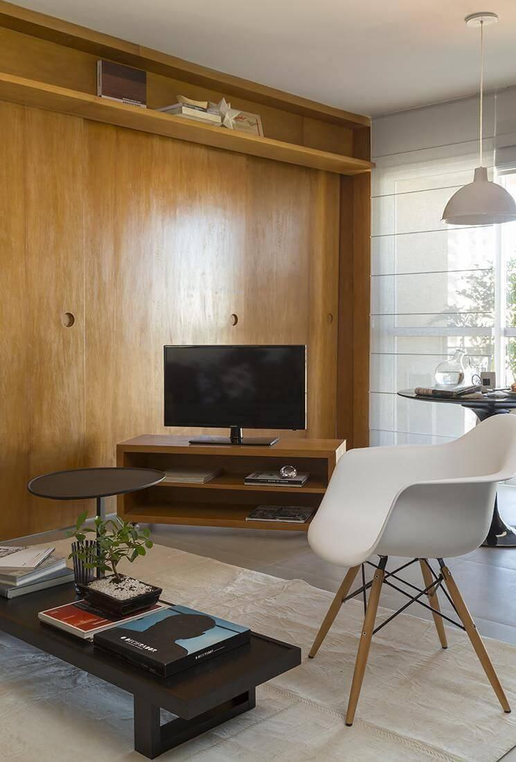 cadeira eames - sala de estar moderna e contemporânea