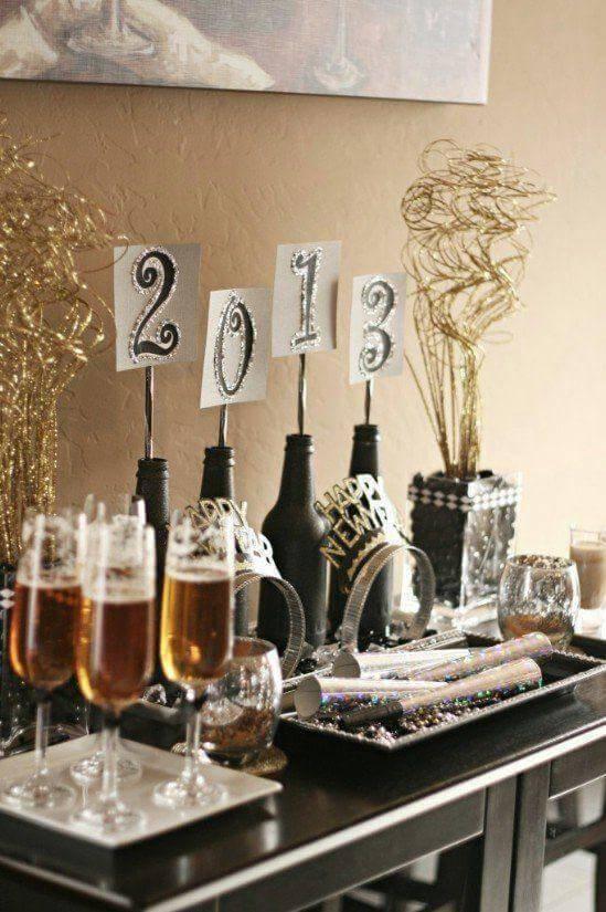 Decoração para ceia de ano novo