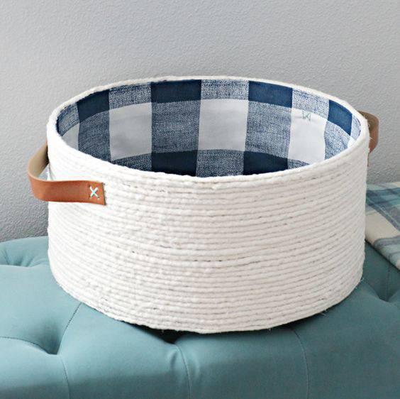 cesto organizador - cesto de cordas