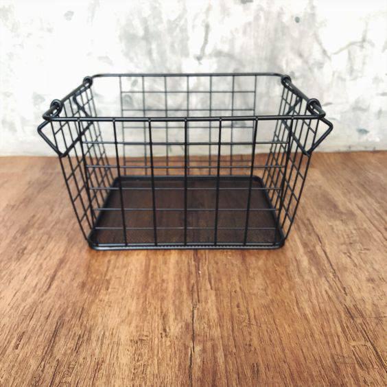 cesto organizador - cesto de metal