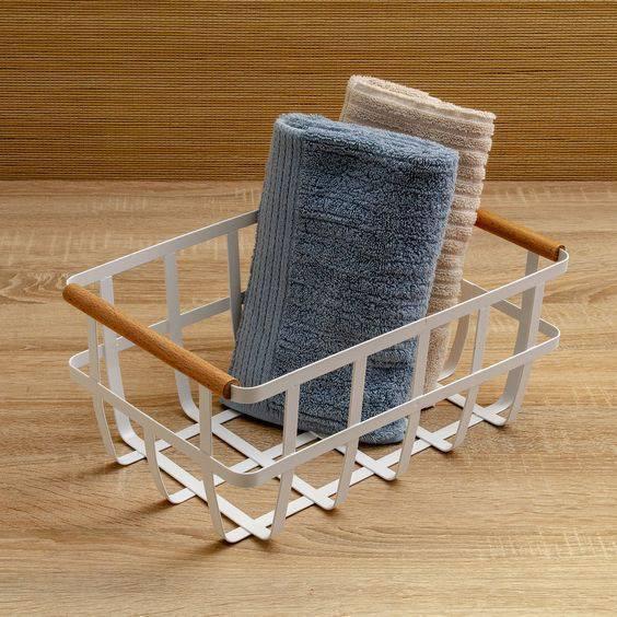 cesto organizador - cesto de toalhas de rosto
