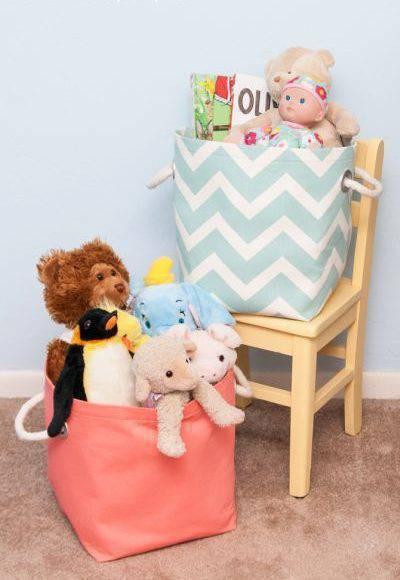 cesto organizador - cestos de brinquedos coloridos