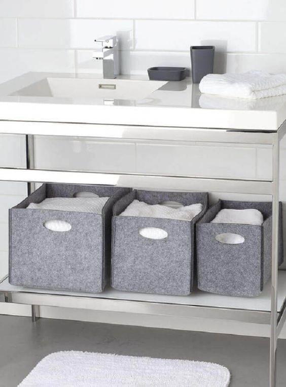 cesto organizador - cestos de feltro
