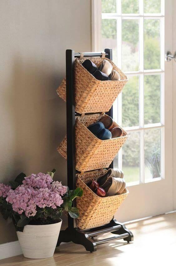 cesto organizador - cestos de palha