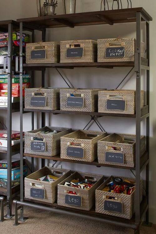 cesto organizador - cestos de vime com brinquedos