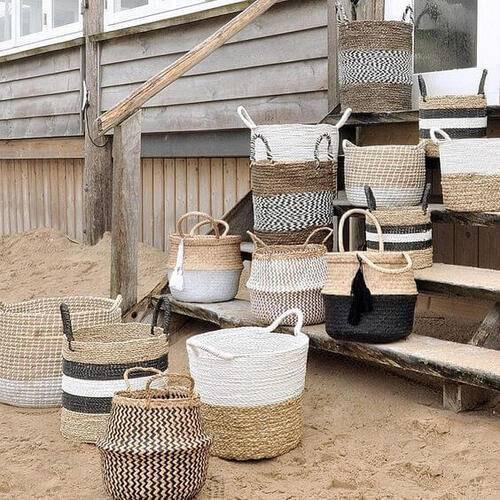 cesto organizador - cestos diferentes em conjunto