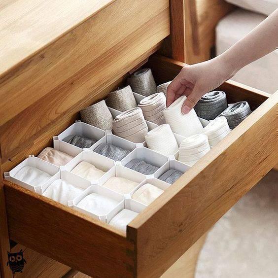 colmeia organizadora - colmeia branca simples para gaveta