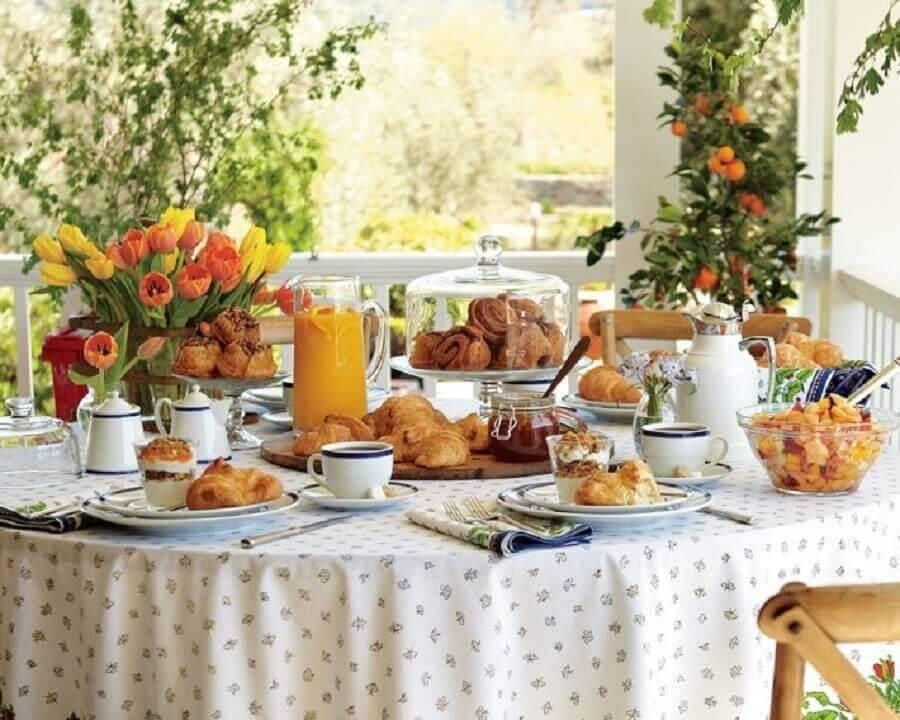 como montar uma mesa de café da manhã Foto Casinha Chique