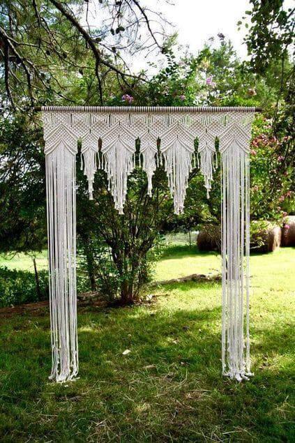 cortina de crochê - cortina de crochê branca em macramê