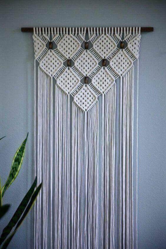 cortina de crochê - cortina de crochê de porta