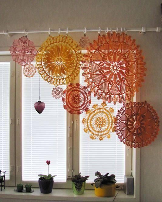 cortina de crochê - cortina decorativa de crochê