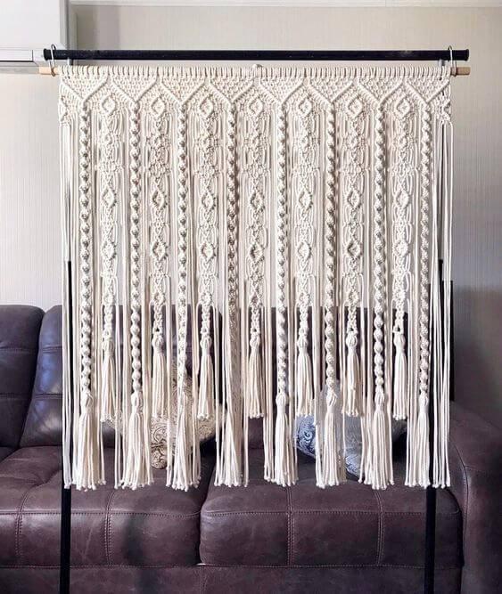 cortina de crochê - cortina em macramê