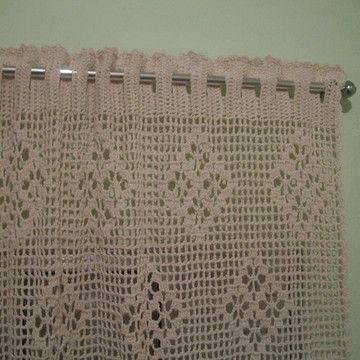 cortina de crochê - cortina grande e branca