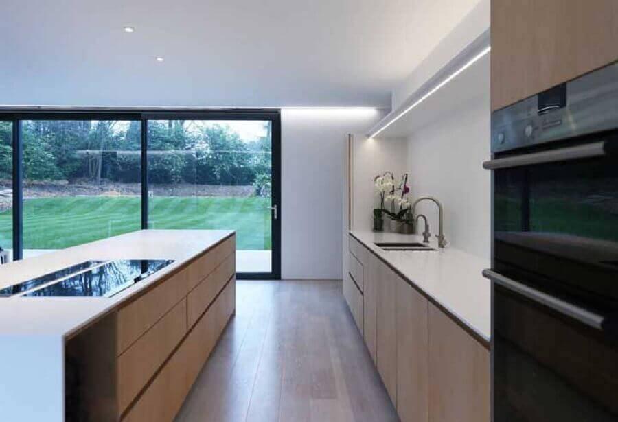 cozinha grande e moderna Foto Pinterest